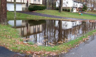 Residential yard flooding